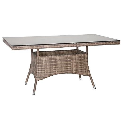 Mesa de jardín mesa de comedor de terraza mesa Muebles de ratán ...