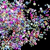 DyAi 10 Bottles Water Droplet Bubble Beads Magical Water Droplets UV Resin Bubble Beads Resin Inclusion Iridescent Color, 1mm to 2mm AB Miniature Bead