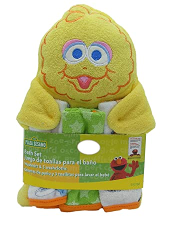 Sesame Street Character Washmitt and Washcloths - styles and colors vary