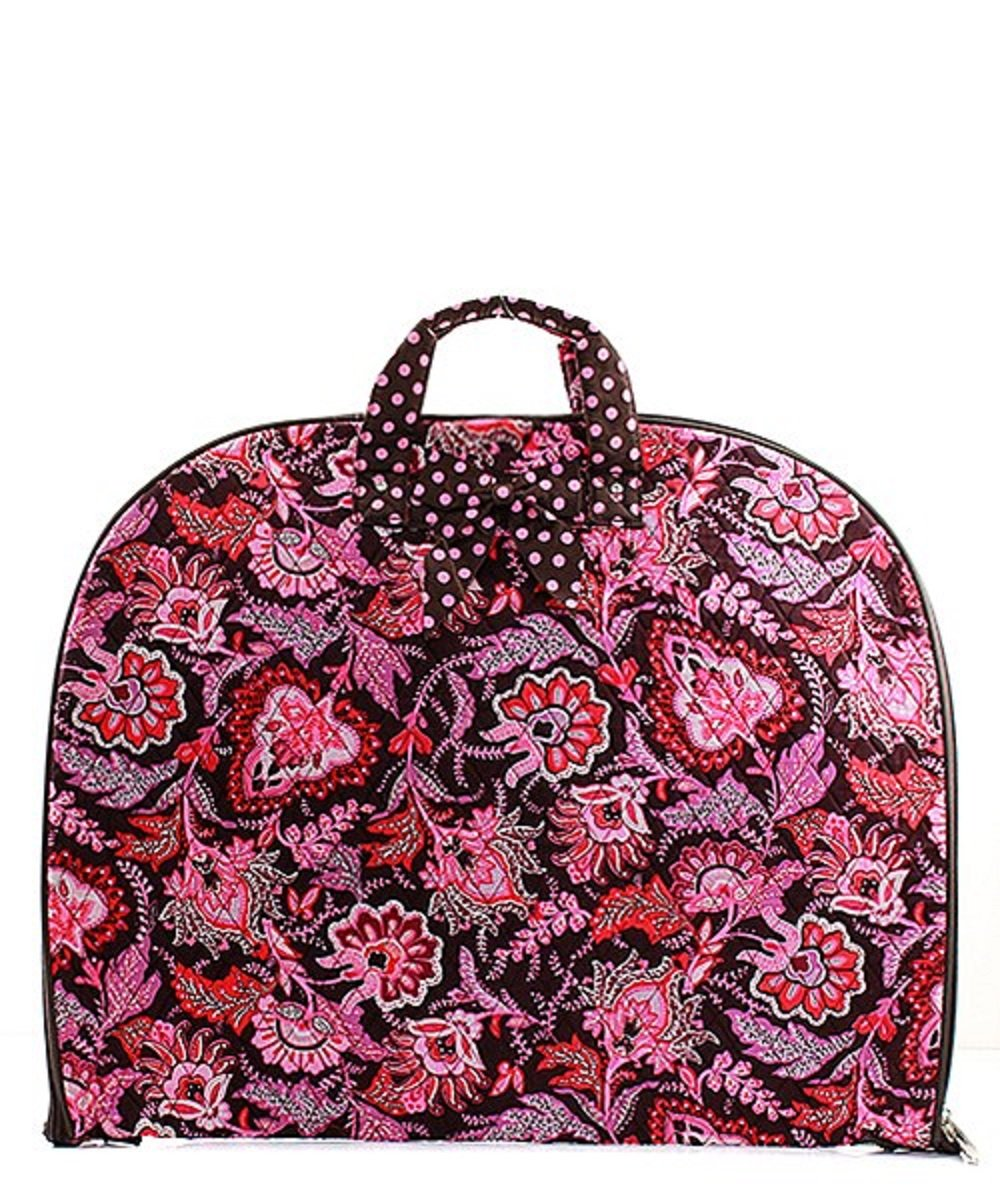 Paisley Floral Hanging Garment Bag Pink