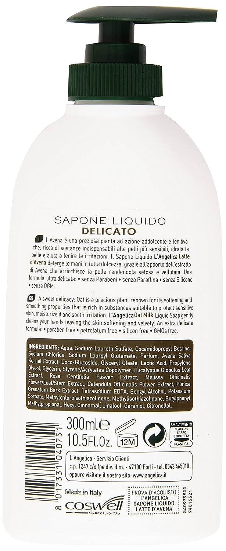 L Angelica - Leche de Avena, Jabón Líquido delicada - 300 ml: Amazon.es: Belleza