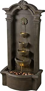 Kenroy Home Classic Indoor/Outdoor Floor Fountain ,44 Inch Height, 20 Inch Width,12 Inch Ext. with Moss Stone Finish