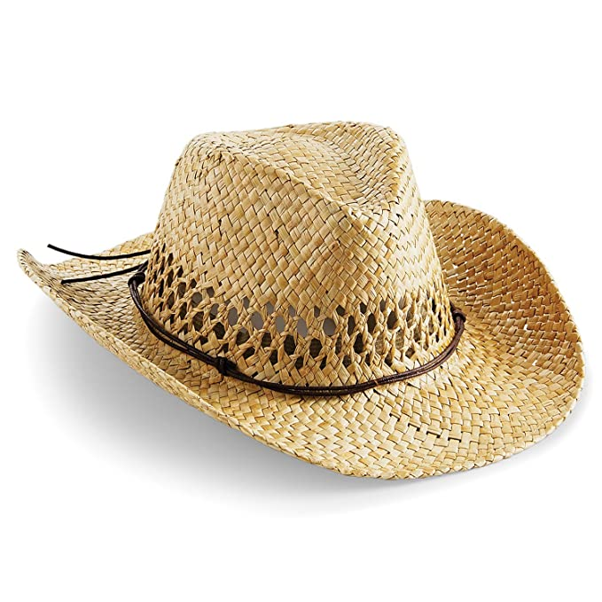 a97fb57b06ca0 Beechfield Cowboy Strohhut Einheitsgröße