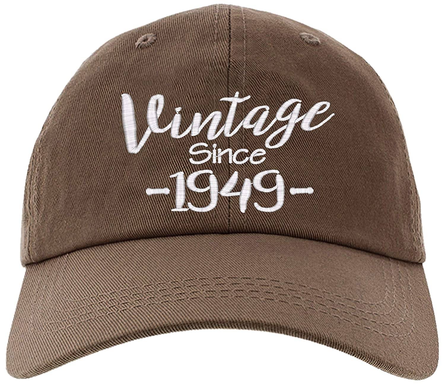 Amazon Cap 1949 70th Birthday Gift Vintage Aged To Be Perfected Since Baseball Hat EM 0011 Black Clothing