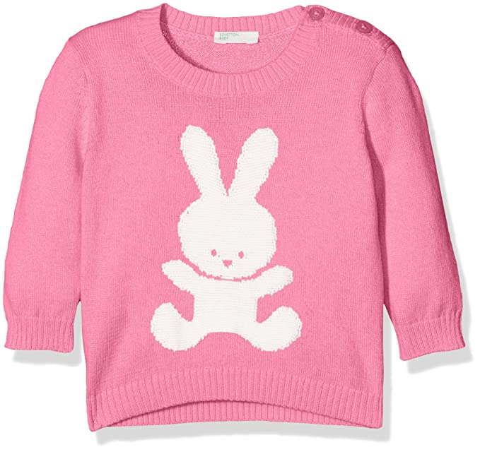 United Colors of Benetton Sweater L/s Cotton Blend, Sudadera para Bebés, Rosa (Pink 2l8), 62: Amazon.es: Ropa y accesorios