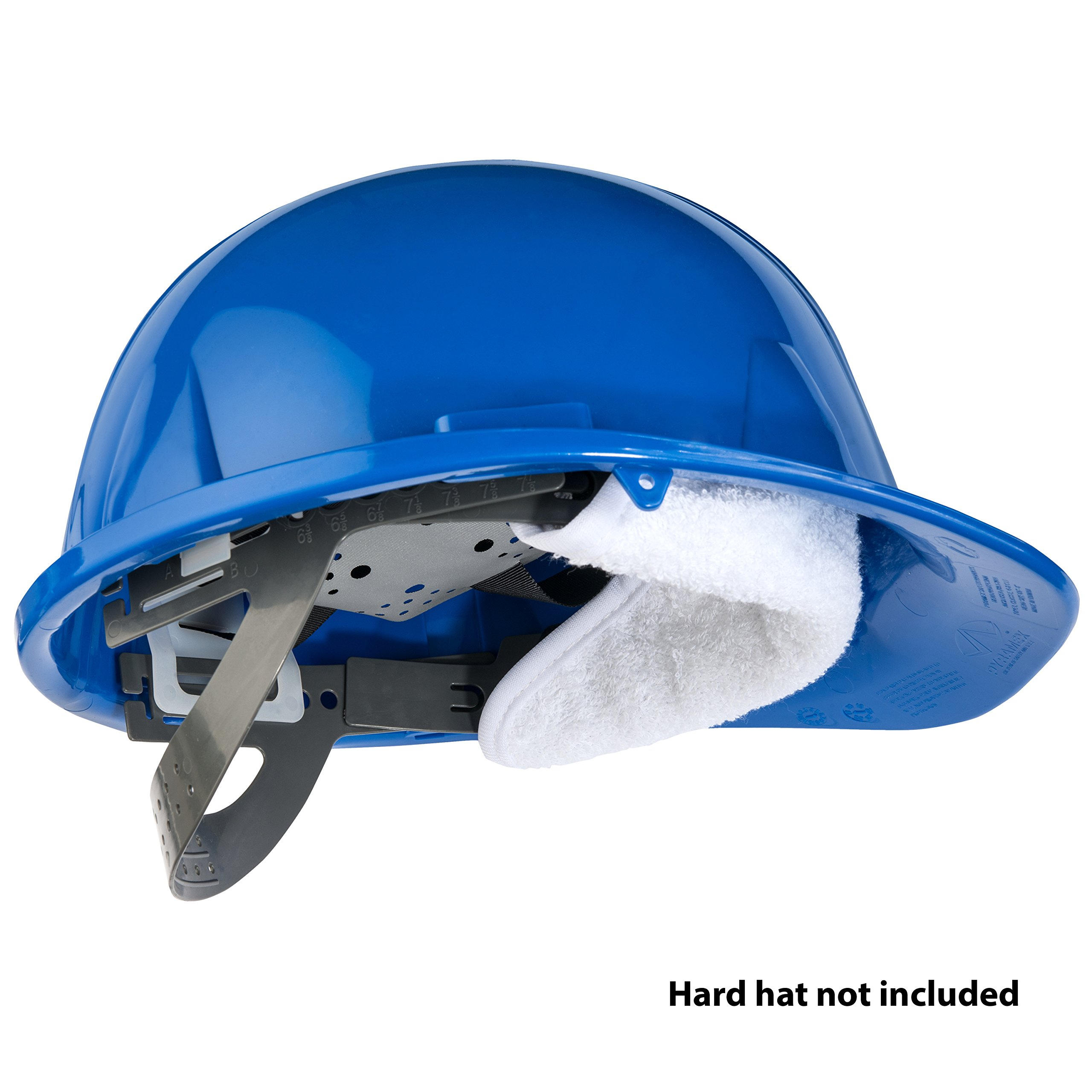THREE Cotton Sweatbands for hard hats SOFT COTTON - EASY VELCRO ATTACHMENT - BEST VALUE - WASHABLE AND ESPECIALLY EASY TO ATTACH TO HARD HATS. by Paulex Solutions (Image #6)