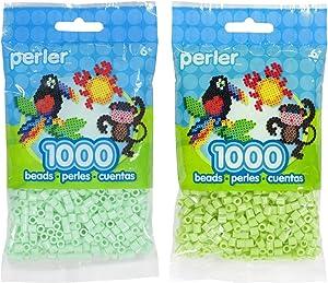 Perler Bead Bag 1000, Bundle of Mint and Sour Apple (2 Pack)