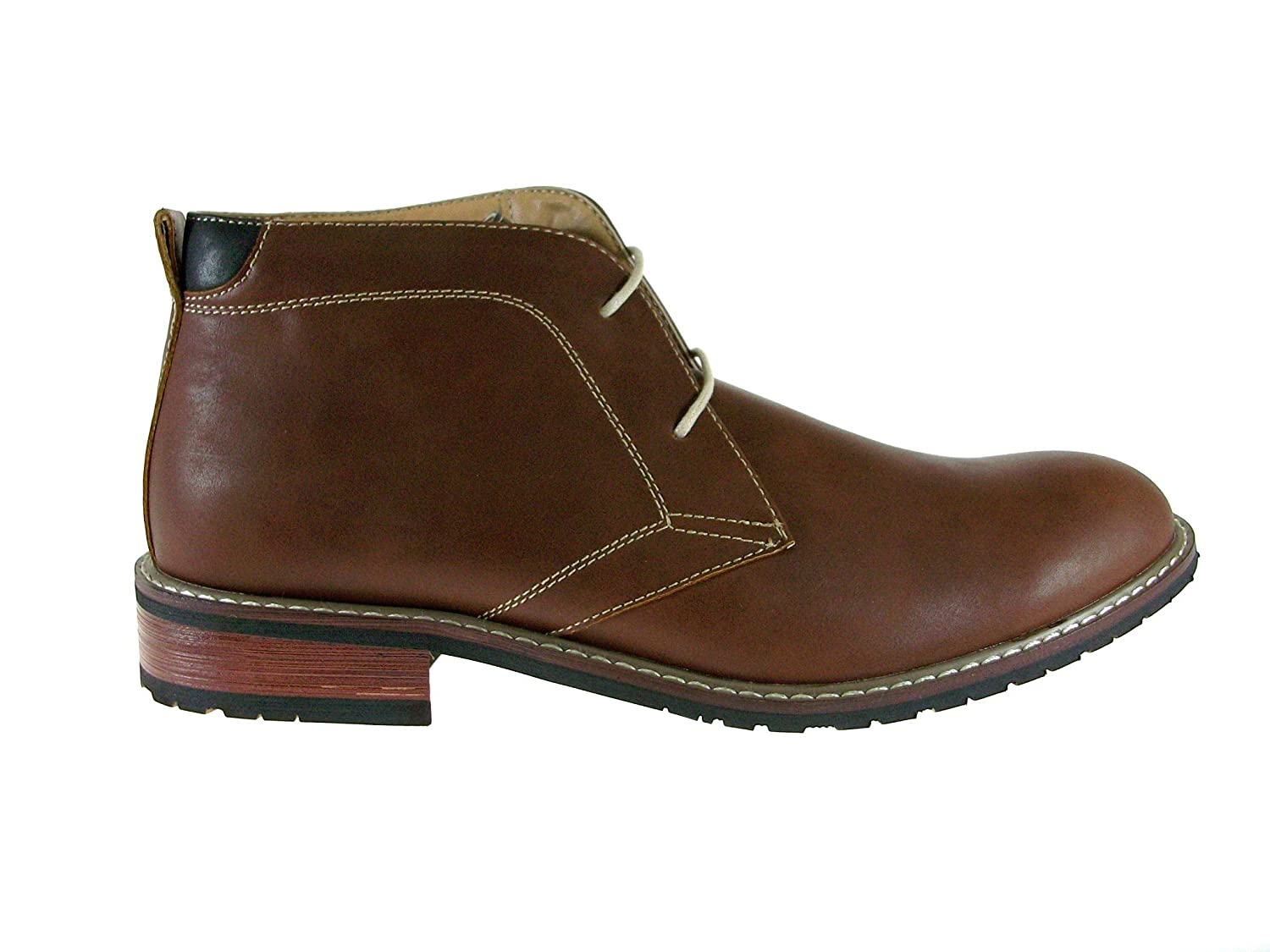 Jazame Mens 617119 Casual Chukka Mid-Top Lace Up Ankle Boots