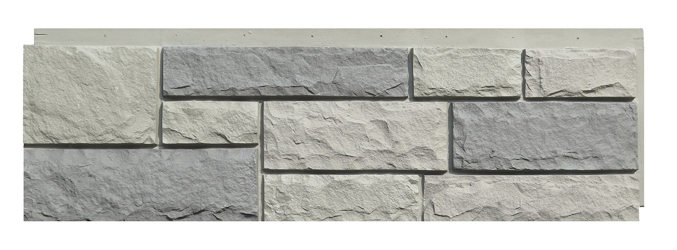 NextStone Faux Polyurethane Stone Siding - Random Rock Tri Gray (4 Panels Per Box)(19 Sq.Ft. Per Box) by NextStone
