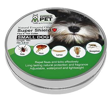 Wiser Pet Collar de pulgas Natural para Perros pequeños, Evita y controla Las pulgas y