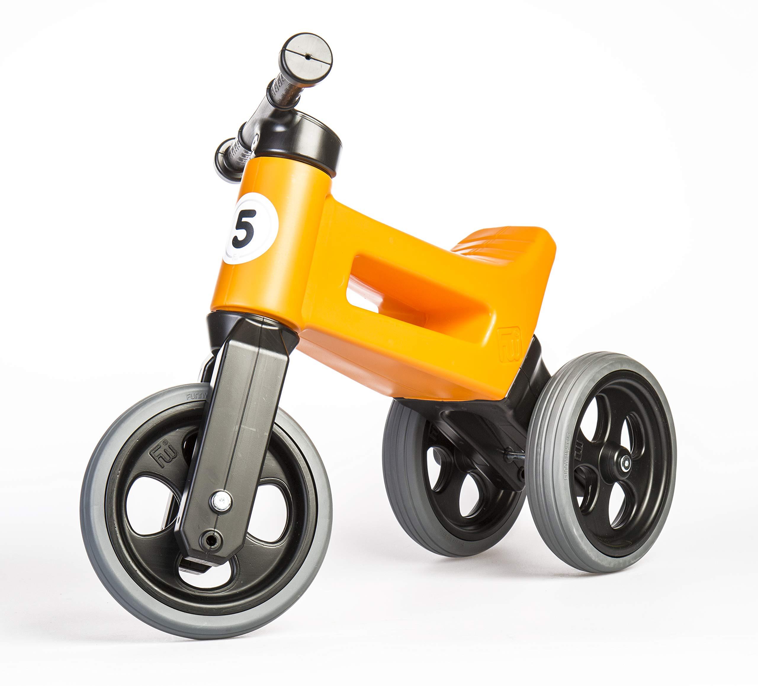 PlayMonster Free Wheelin' Rider Convertible Balance Bike, Bright Orange