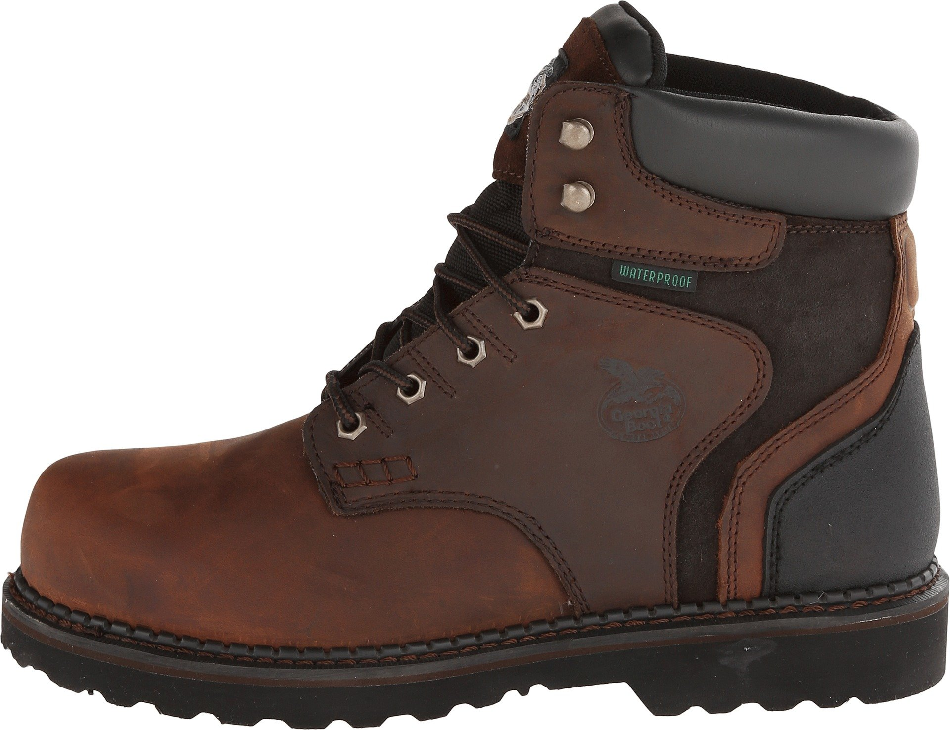 Georgia Boot Men's Brookville 6 Inch Work Shoe, Dark Brown, 10 M US by Georgia (Image #2)