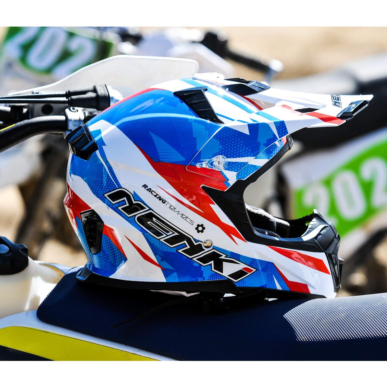 NENKI Motocross Quad Bike Helmet NK-316 for Adults/ Matt Black, XL