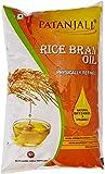 Patanjali Rice Bran Oil Pouch, 1L