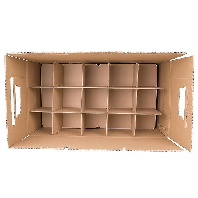 Bekannt BB-Verpackungen Gläserkartons, 5 Stück, mit 15 Fächern  PT27