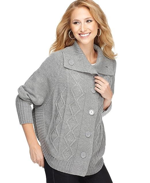 Amazon.com: One un Unusual chaqueta de punto Suéter de la ...