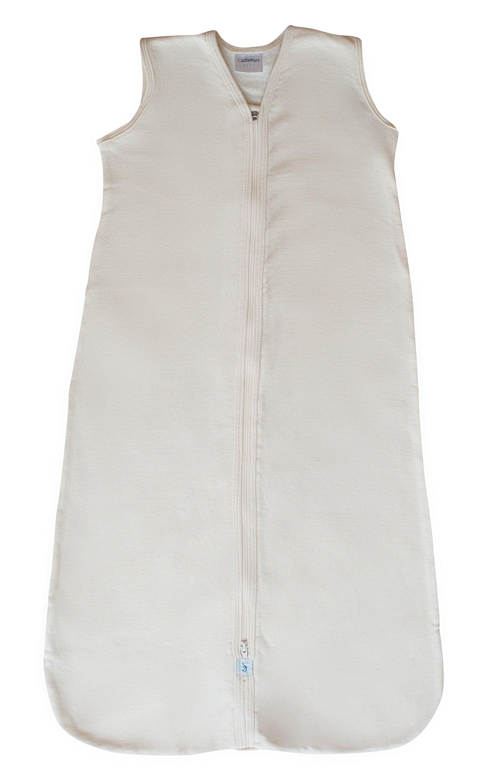 CastleWare Baby Sleeveless Fleece Sleeper Bag (XL 18-24 Months, Natural)