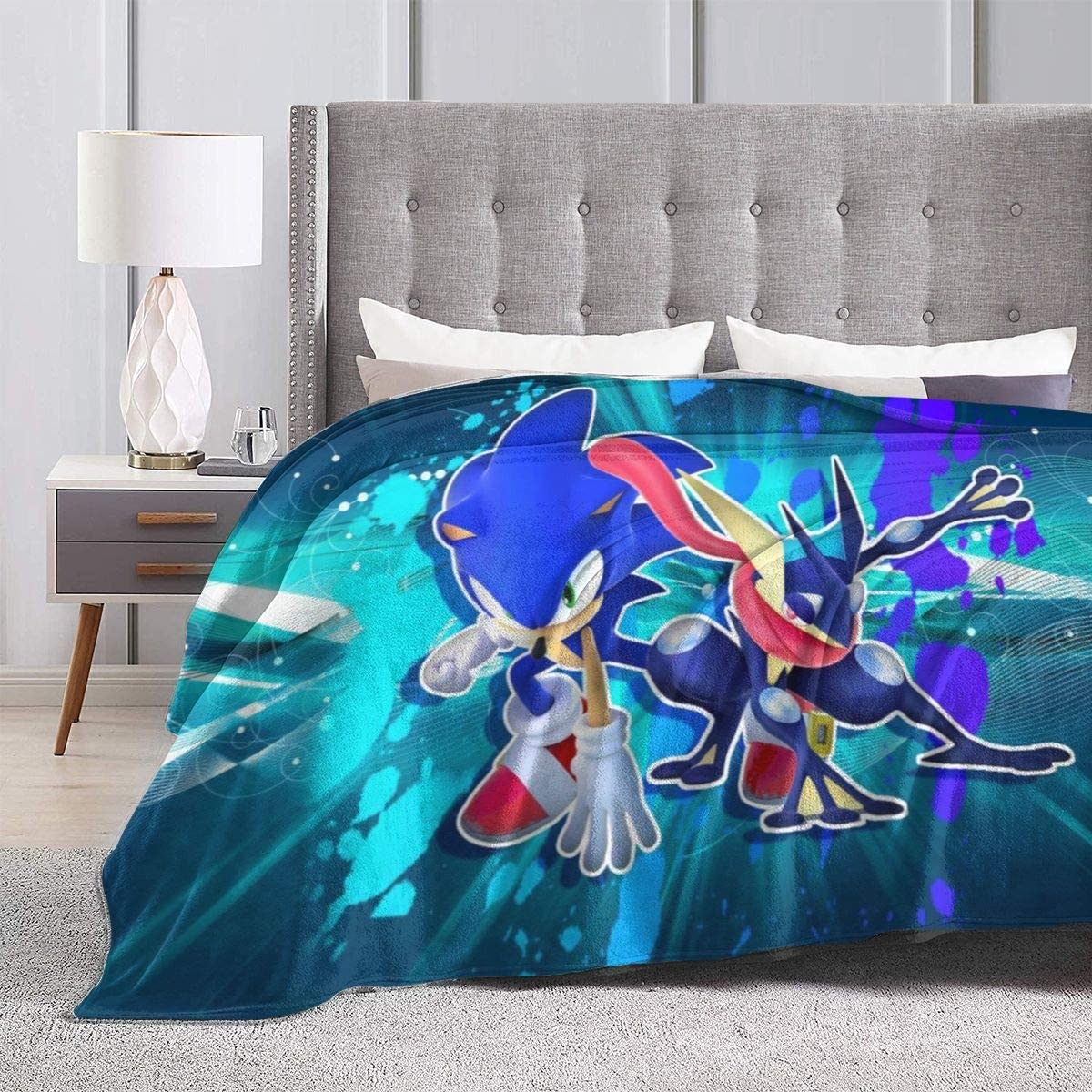 Sonic The Hedgehog Blanket Plush Soft Warm Fuzzy Sofa Bed Blankets for Kids Adult All Season 40 X 50 Inch