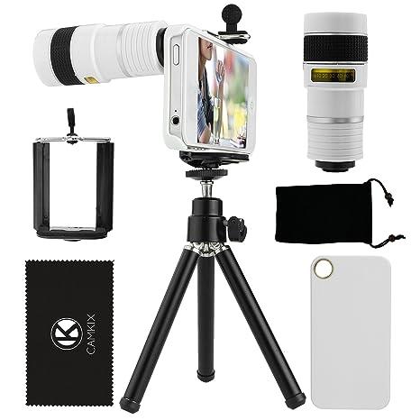 Juego de Lentes para Camara iPhone 4/4S incluye Lentes Telefoto 8X / Mini Tripode / Sujetador de ...