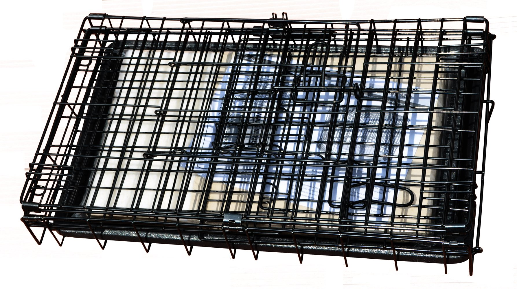 Cool Runners Tall Boy Large Wire Pet Crate 30'' x 21'' x 24'' With Bonus Faux Sheepskin Mattress by Cool Runners (Image #2)