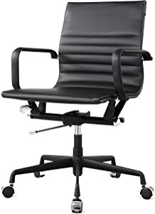MEELANO Office Chair, One Size, Black