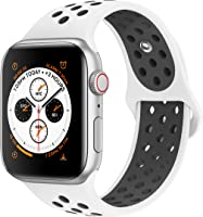 AdMaster Compatible for Apple Watch Bands 38mm 40mm 42mm 44mm,Soft Silicone Replacement Wristband Compatible for iWatch...