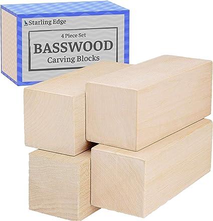 14 Pack Basswood Carving Blocks Soft Solid Wooden Whittling Kit for Whittler Sta