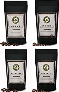 Agro Beans Variety Pack ( Freshly Roasted Award Winning Coffee Beans) (Percolator-Preground Medium Fine, 4 x 250gm)