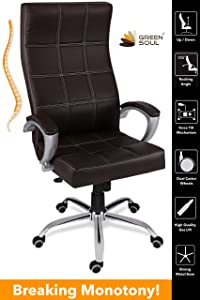 Green Soul Ace High Back Office Chair (Brown)