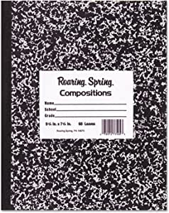 Wide ruled marble composition book