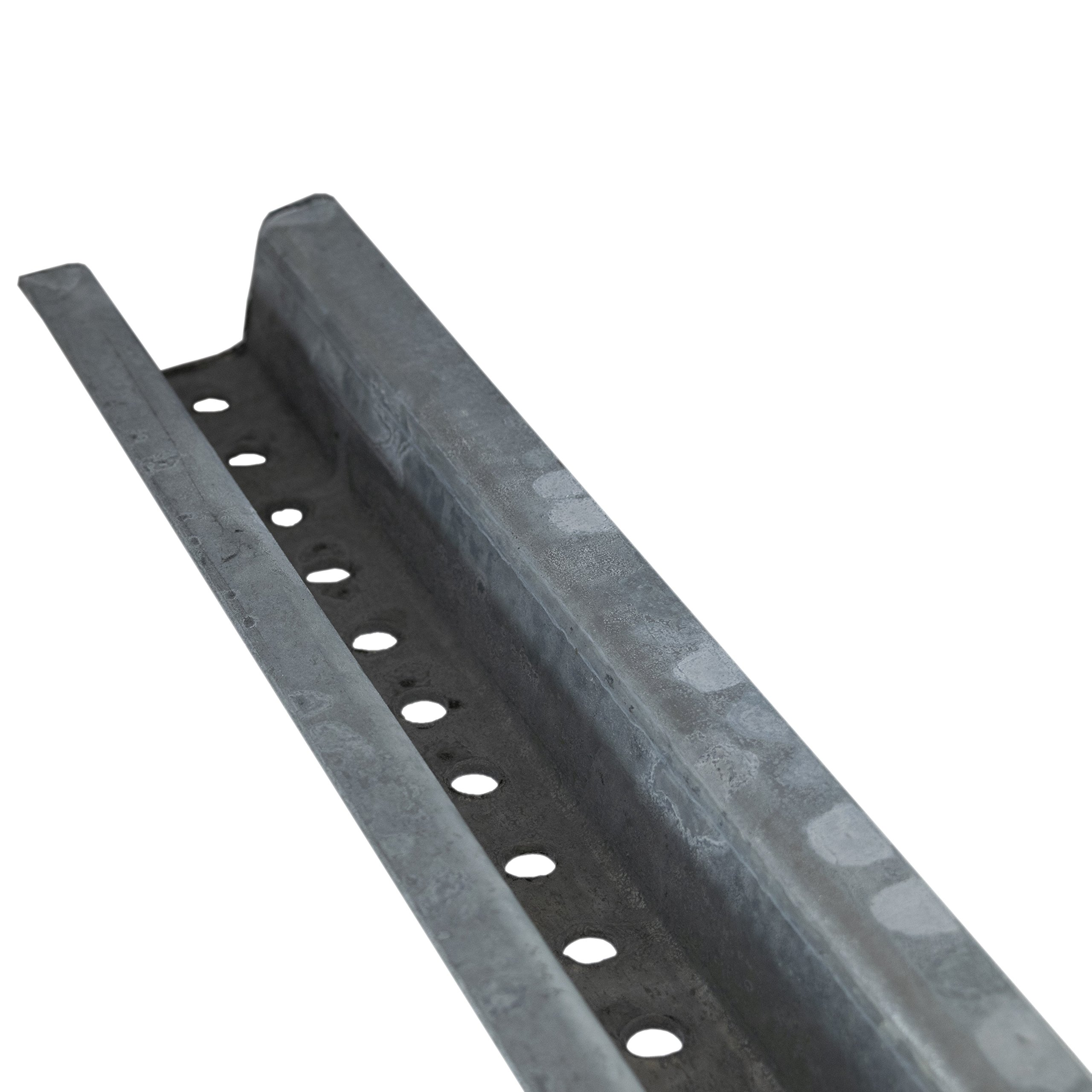 Nmc P4Gv UChannel Sign Post, 4' Galvanized Steel, Punched With 3/8 Holes, 1 On Center Full