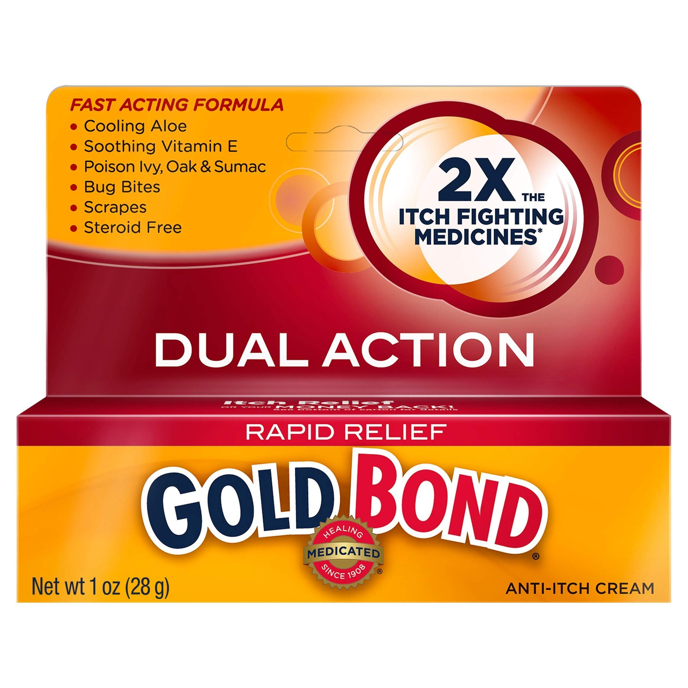 Gold Bond Rapid Relief Anti-Itch Cream 1 oz (Pack of 12) by Gold Bond