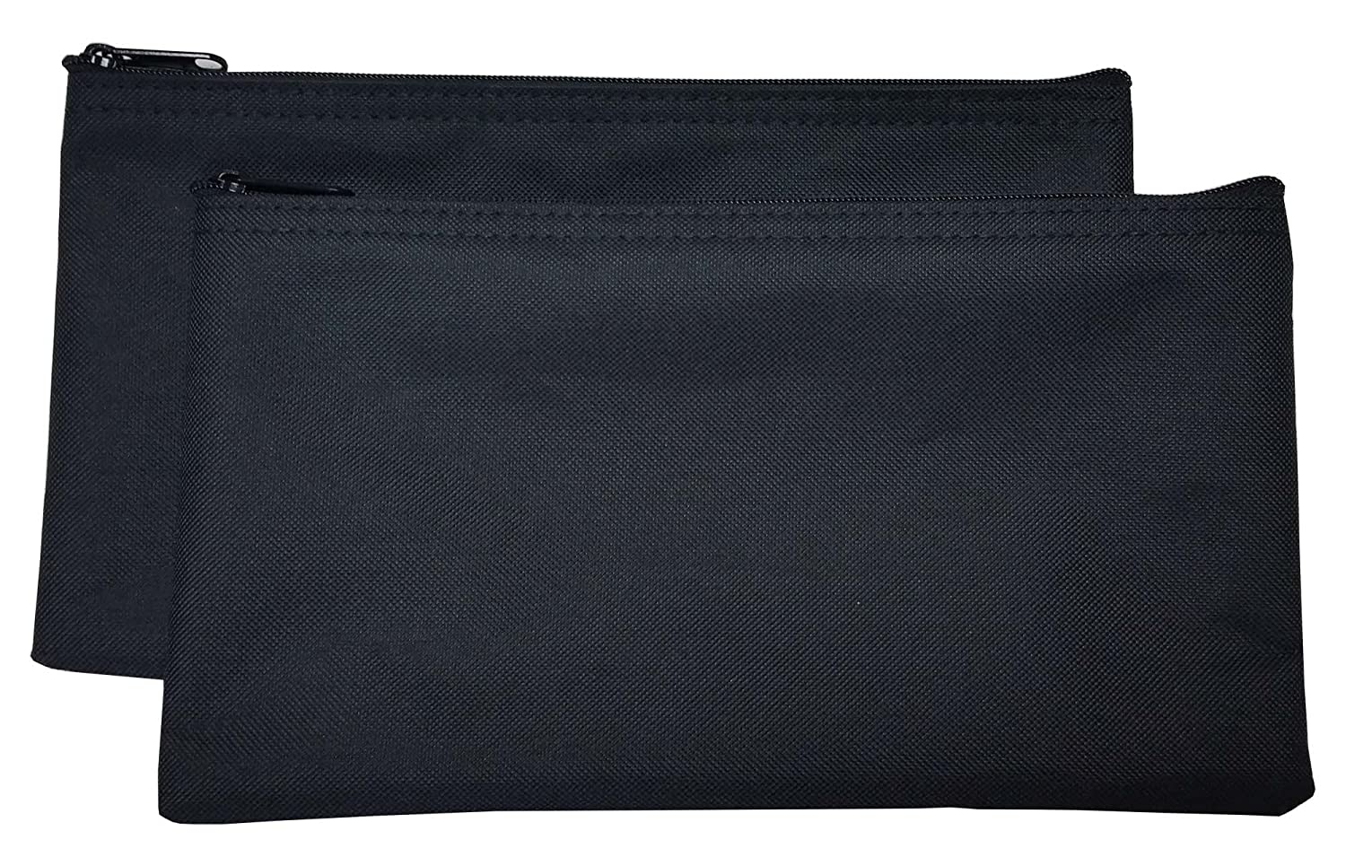 Zipper Bags Poly Cloth Value Package of 2 Bags (Black)
