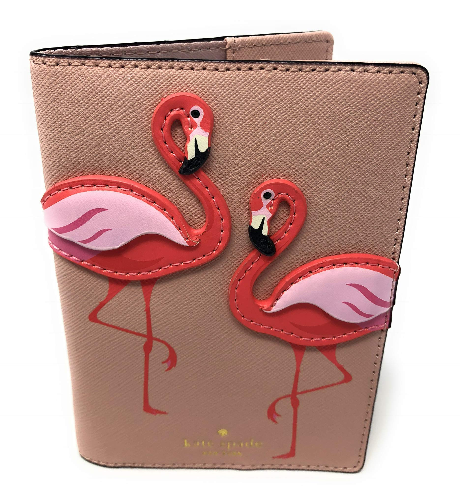 Kate Spade Saffiano Leather Flamingo Passport Holder Case Pink