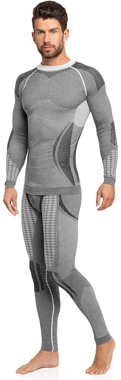 Ladeheid Herren Funktionsunterwäsche Set lange Unterhose plus langarm Shirt thermoaktiv 50w10w20