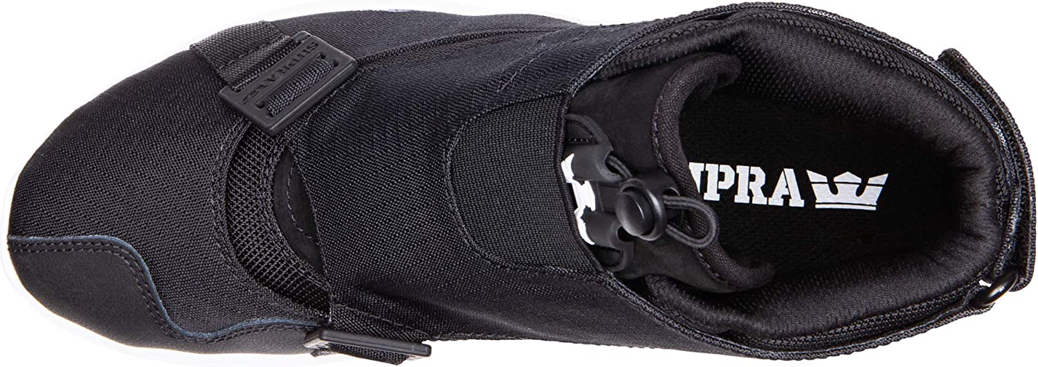 Supra Men's Skateboarding Shoes Black Black Dk Grey White M 42