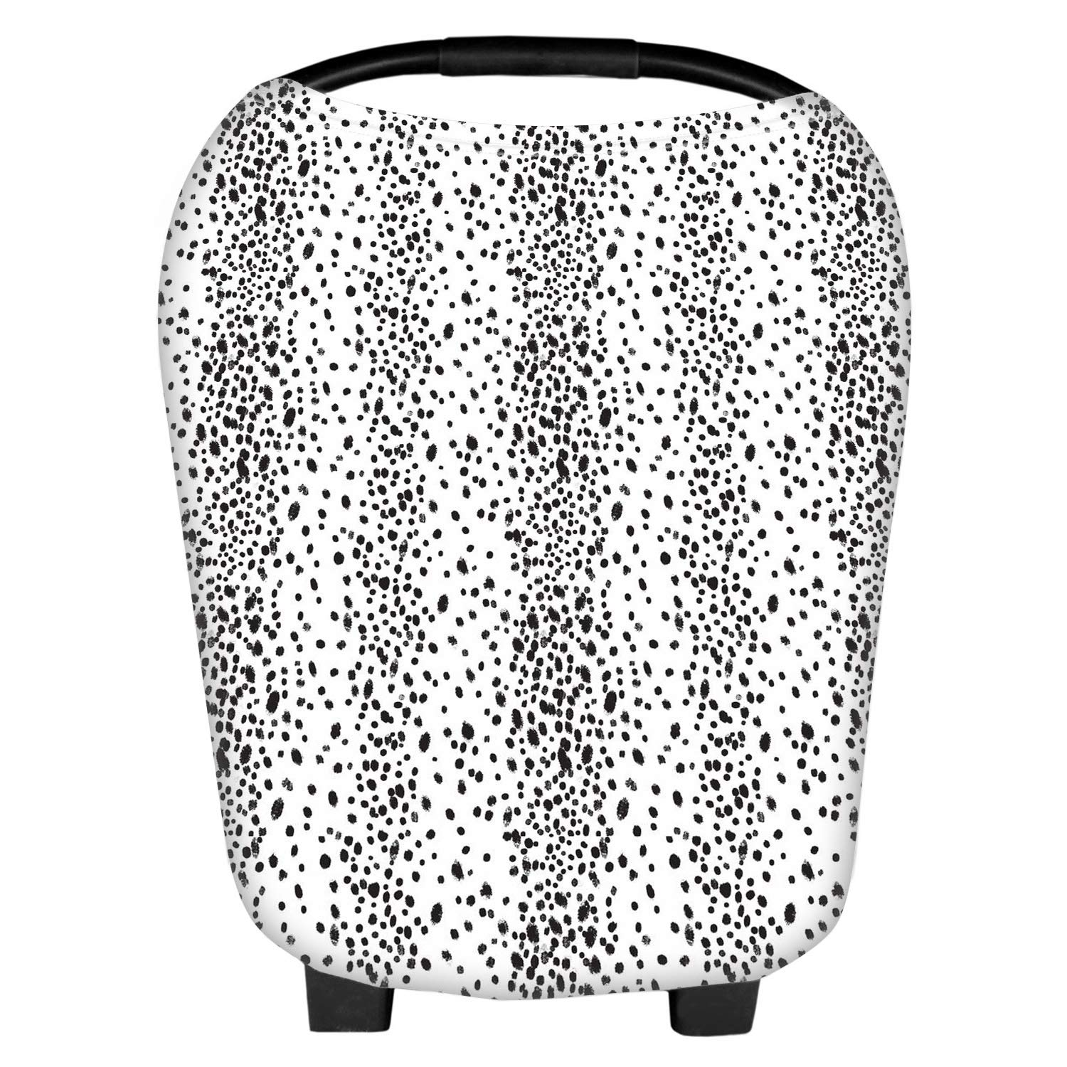 Nursing Cover Carseat Canopy Super Soft Stretchy Cover Multi Use for Newborn Boys Girls Shopping Cart Cover Scarf Light Blanket Stroller Cover Cross