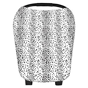 Nursing Cover Carseat Canopy Super Soft Stretchy Cover Multi Use for Newborn Boys Girls Shopping Cart Cover Scarf Light Blanket Stroller Cover (Dot)
