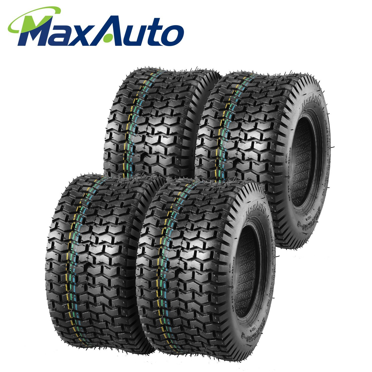 13x6.50-6 Turf Saver Tire for John Deere Lawn and Garden Tractor Mower 13/6.50-6 4-Ply(Pack of 4)