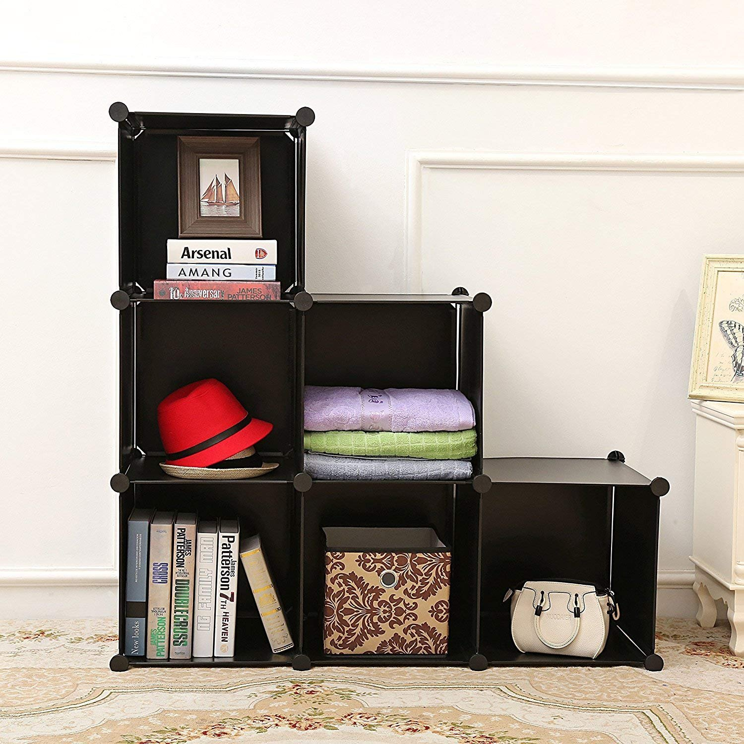 House of Quirk Plastic DIY Shelf Bookcase Media Storage