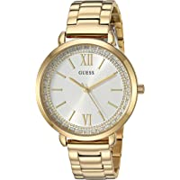 GUESS Gold-Tone Stainless Steel Crystal Bracelet Watch. Color: Gold-Tone (Model: U1231L2)