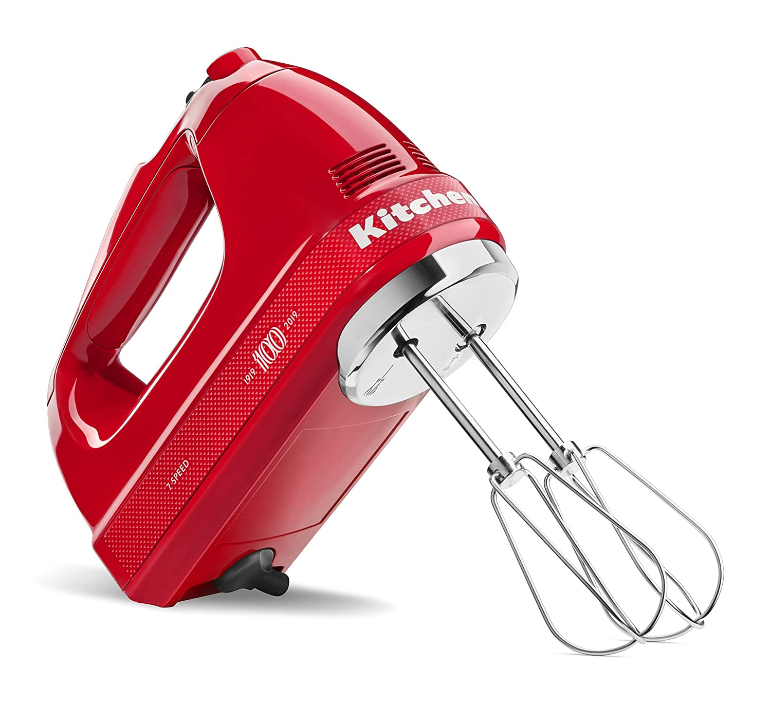 KitchenAid KHM7210QHSD 100 Year Limited Edition Queen of Hearts Hand Mixer 7 Speed Passion Red