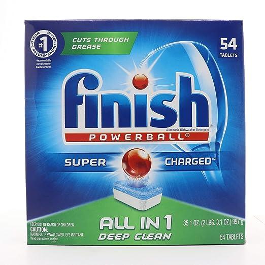 Finish - todo en 1 - 54 ct - detergente para lavavajillas ...