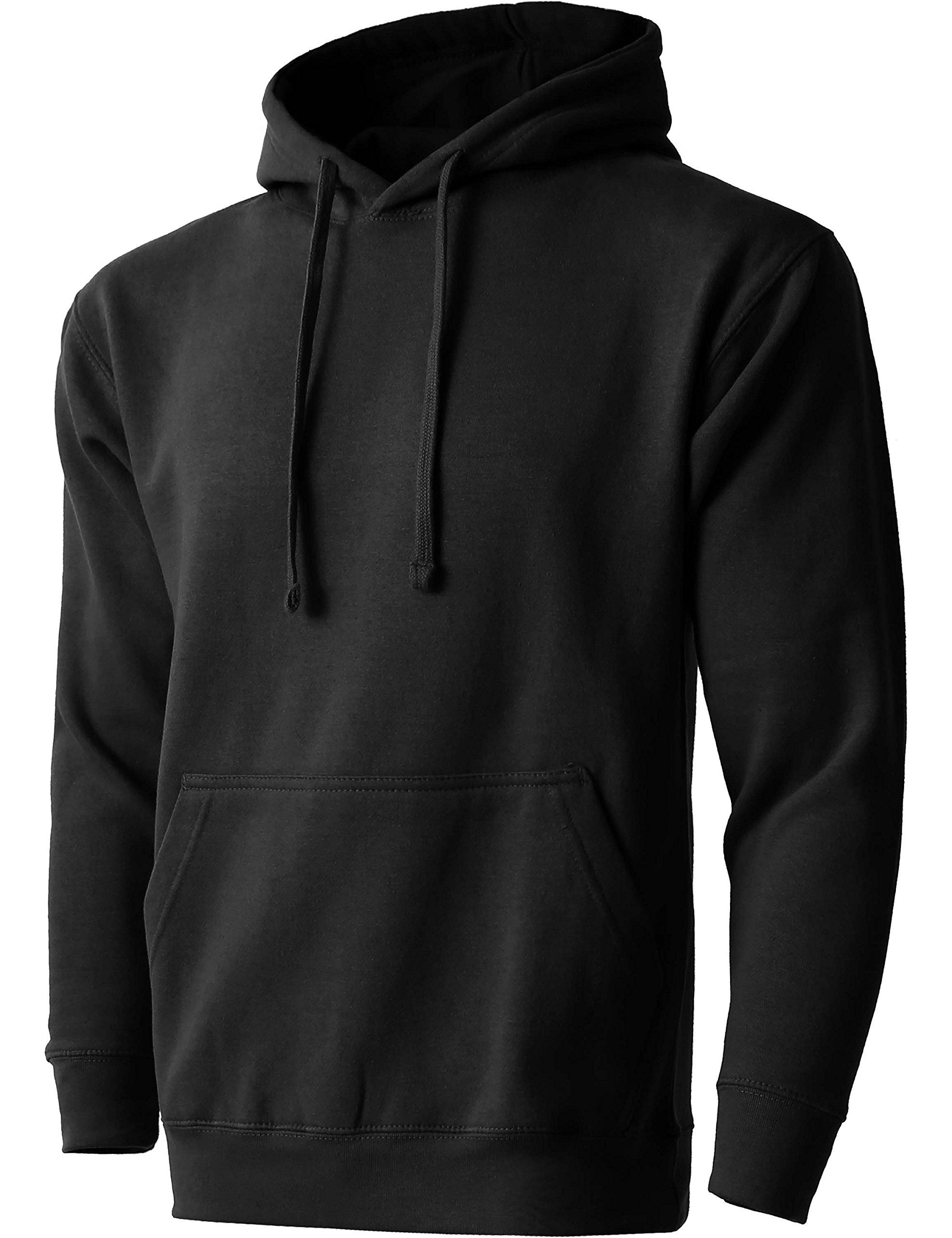 MA Mens Pullover Heavyweight Hoodie Sweatshirts (2X-Large/ma19_Black)