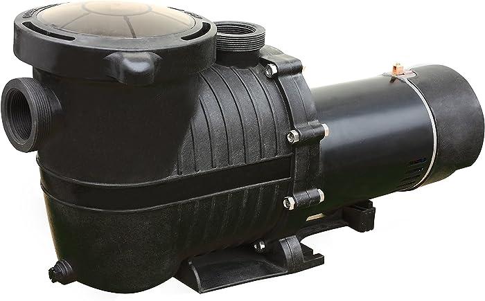 FlowXtreme NE4520 2-Speed in-Ground Pool Pump w/Copper Windings, 1 HP/2280-5040 GPH/230V, Black