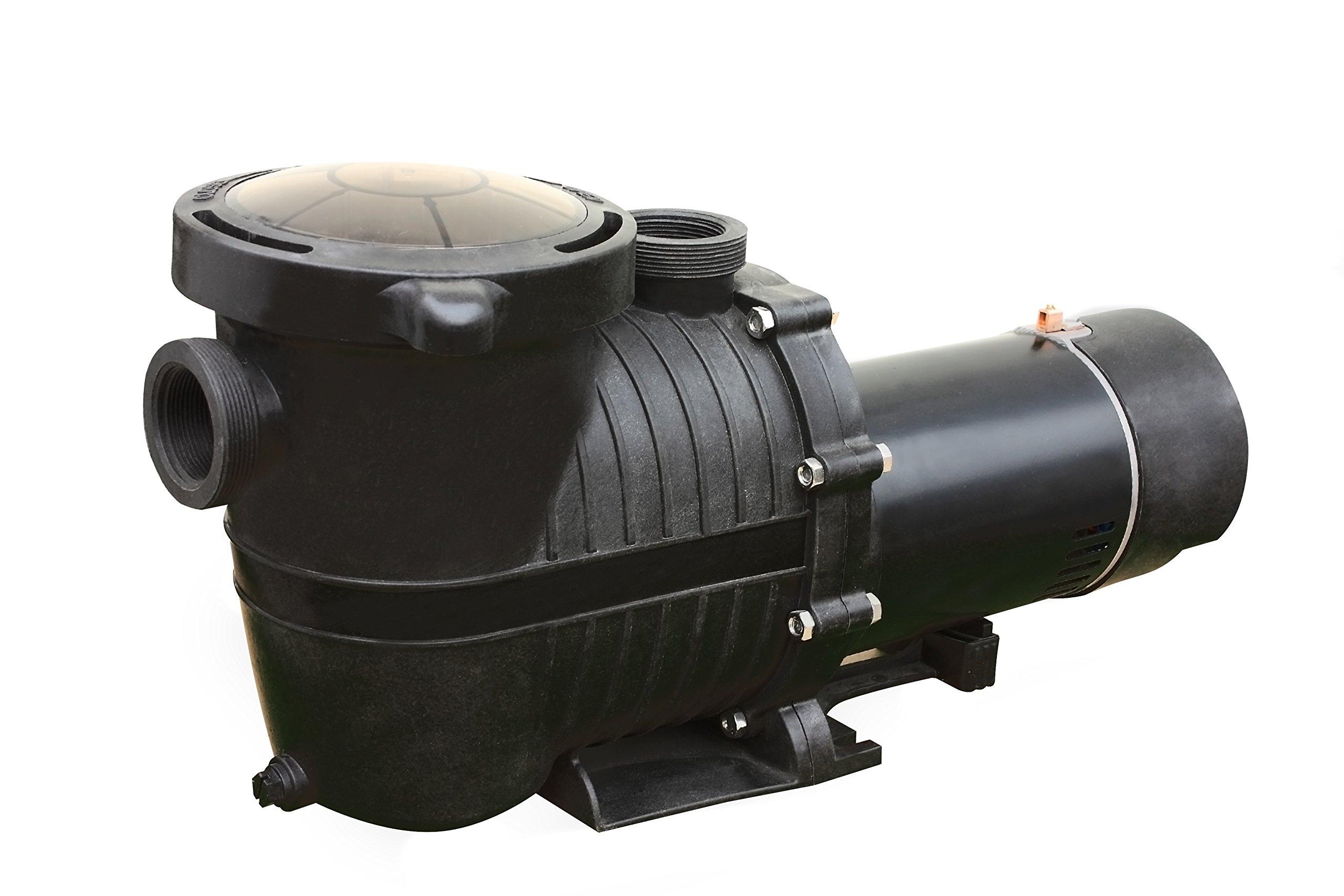 FlowXtreme NE4520 2-Speed in-Ground Pool Pump w/Copper Windings, 1 HP/2280-5040 GPH/230V, Black by FlowXtreme