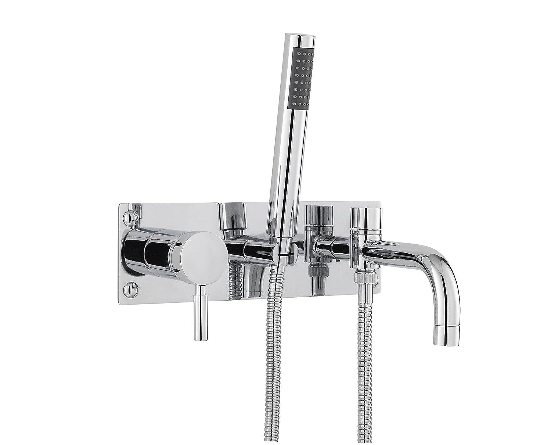 Hudson Reed PK350 Tec SL Wall Mounted Bath Shower Mixer, Chrome
