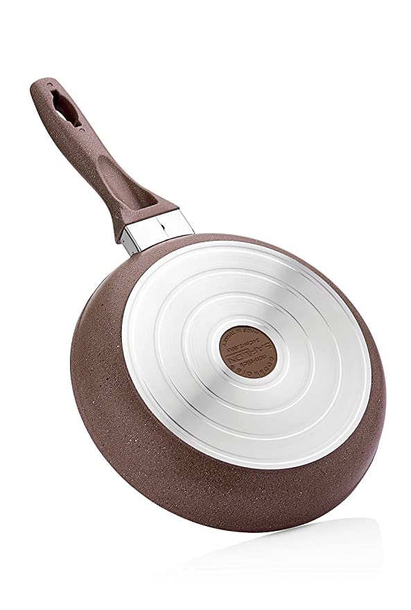 Amazon.com: Granite Frying Pan | Non-Stick | Scratch-Resistant Forged Aluminum w/ QuanTanium Coating | Even Heating Cooking Dishware | Includes Storage Bag ...