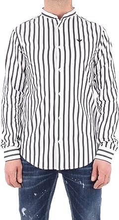 Emporio Armani Camisa casual a rayas blancas 3H1C78 1N84Z-F938 Hombre: Amazon.es: Ropa y accesorios