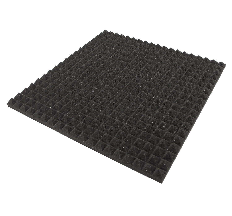 Aislamiento acú stico, forma de pirá mides, espuma eco, insonorizació n, estudio de sonido, 1 unidad, aprox.48 cm x 48 cm x 2,5 cm forma de pirámides insonorización 1unidad Dibapur